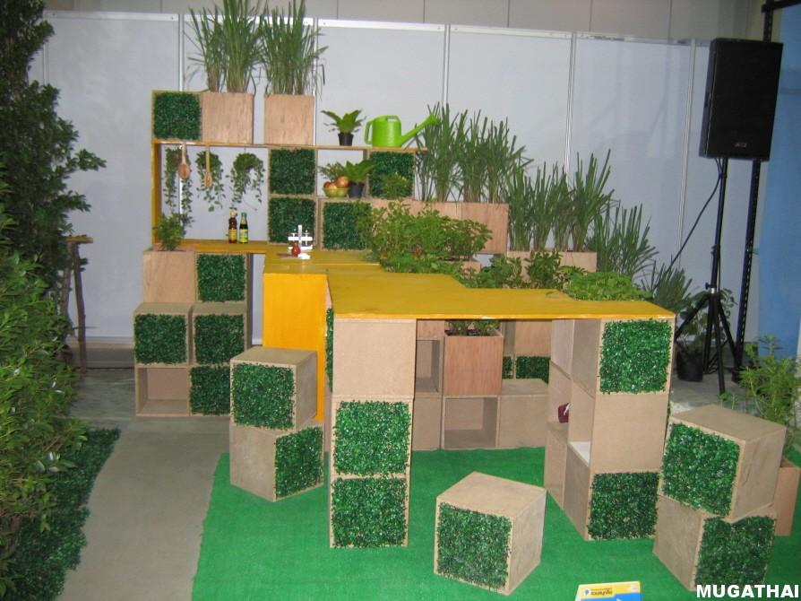 การจัดสวนโดยใช้หญ้าเทียมมาตกแต่ง