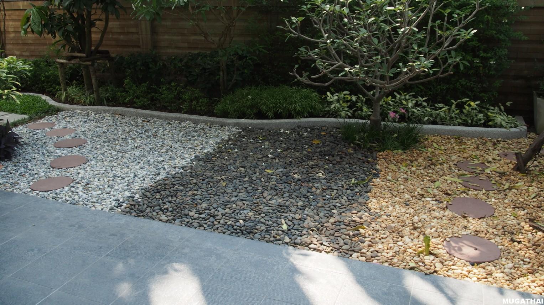 การจัดสวนหินสำหรับบ้านในเมือง และในบริเวณพื้นที่น้อย
